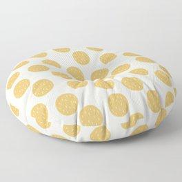 Yellow Organic Circles Floor Pillow
