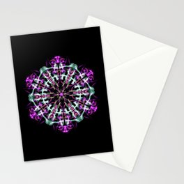 Purple Snowflake Manda Stationery Cards
