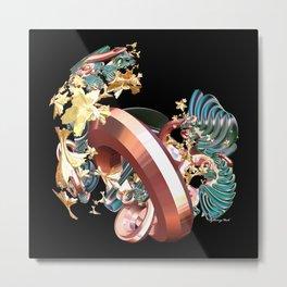 Ring & Flowers Metal Print