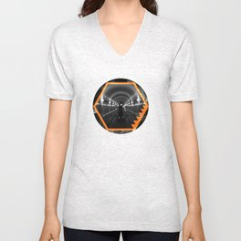 Trapped In Abstract Unisex V-Neck