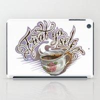 treat yo self iPad Cases featuring Treat Yo Self by Bokkei