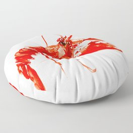 Red Kitchen Seafood Red Lobster design, art, painting Boston Floor Pillow