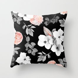 Night bloom - moonlit flame Throw Pillow