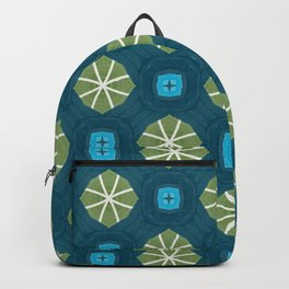 green moss on ink blue pattern Backpack