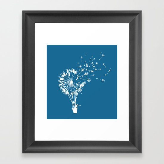 Going where the wind blows Framed Art Print