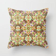 Circus Pastel Mandala Throw Pillow