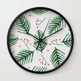 christmas pine needles Wall Clock