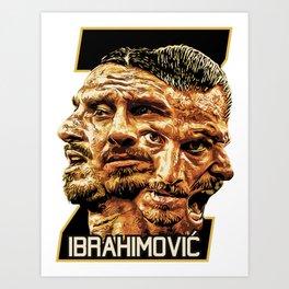 Zlatan Ibrahimovic (Four Faces) - Exposure Art Print
