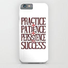 Success, marsala iPhone Case