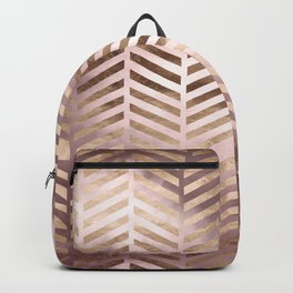 Champagne Rosegold Abstract Pattern Backpack