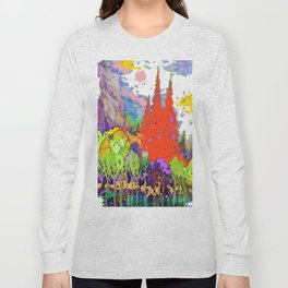 Landscape Fall Mountain color Long Sleeve T-shirt