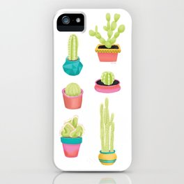 Cacti Family Portrait iPhone Case
