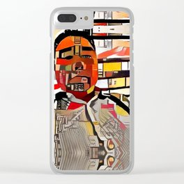 Abstract Self-Portrait Clear iPhone Case