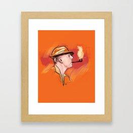 Mr. Hulot Framed Art Print