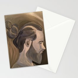 Blue Man Bun Stationery Cards