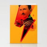 tesla Stationery Cards featuring Tesla by Chincol
