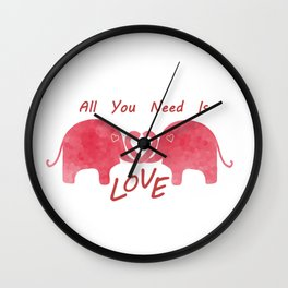 All You Need Is Love -Valentines Day Wall Clock