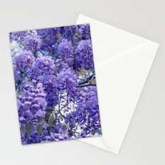 Wistful, Wishful, Ephemeral in Blue -- Spring Botanical Wisteria Vine Stationery Cards