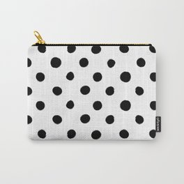 Modern Handpainted Abstract Polka Dot Pattern Carry-All Pouch