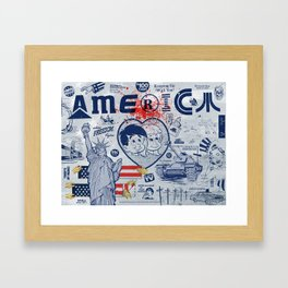 Thanks America / Where Freedom Begins Framed Art Print