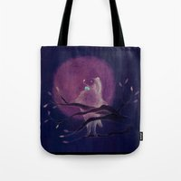 dog Tote Bags featuring dog by maria elina