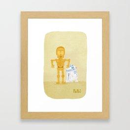 C3PO and R2D2 Framed Art Print