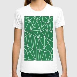 Geometric Cobweb (White & Olive Pattern) T-shirt