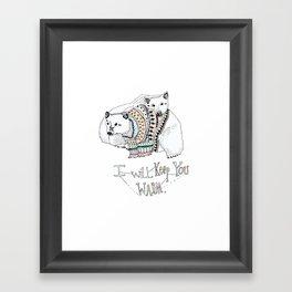 i will keep you warm Framed Art Print