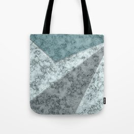 Combined abstract pattern .Green marble . Tote Bag