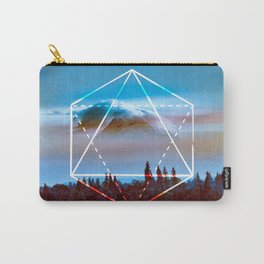 The Elements Geometric Nature Element of Air Carry-All Pouch