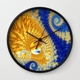 Golden Dragon Wall Clock