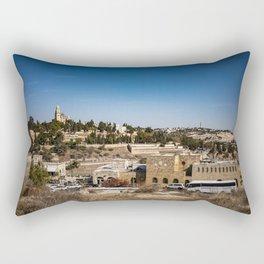 orama View of Jerusalem Rectangular Pillow