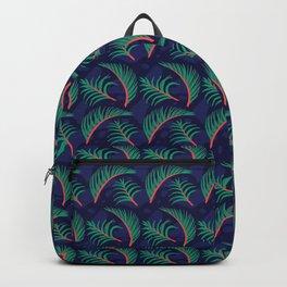 Vibrant Forest Ferns - Navy Backpack