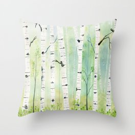 Birch Trees 2  Throw Pillow