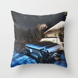 Under a Winter Sky Throw Pillow