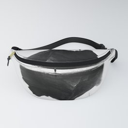 Black and White Isolation Island Fanny Pack