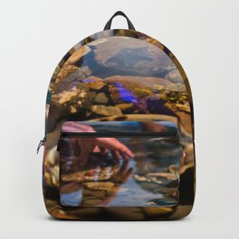 Hands In A Touch Pool Backpack