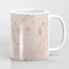Elegant glam mauve pink rose gold floral pattern Coffee Mug