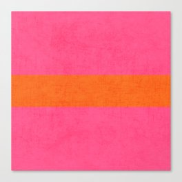 hot pink and orange classic  Canvas Print