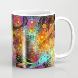 Black Fire Alien Heads Coffee Mug