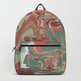 Marble Moss -green Backpack