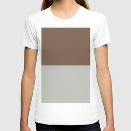 Benjamin Moore 2019 Color of Year Metropolitan AF-690 & Kona Chocolate Brown Bold Horizontal Stripes T-shirt