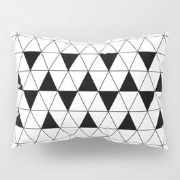 Black and White Triangular Design Pillow Sham