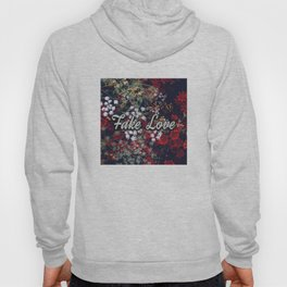 Fake Love Red Floral Hoody