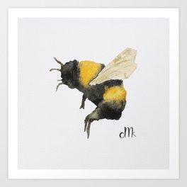 Dancing Bumblebees Art Print