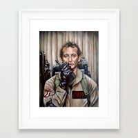 murray Framed Art Prints featuring Bill Murray / Ghostbusters / Peter Venkman by Heather Buchanan