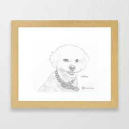Portrait of Lambchop Framed Art Print
