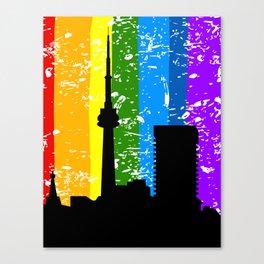 City a rainbow Canvas Print