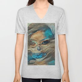 Sand Storm Ghost | AI-Generated Art Unisex V-Neck
