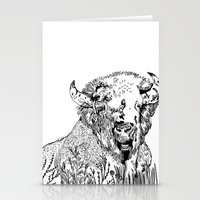 bison Stationery Cards featuring Bison  by ARI(Sunha Jung)